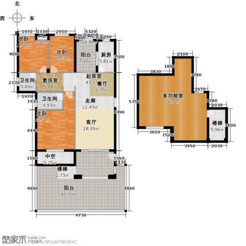 恒信中央公园3室0厅2卫1厨214.36㎡户型图