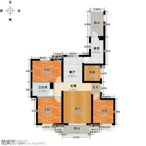 河北国际商会广场3室1厅1卫1厨120.00㎡户型图