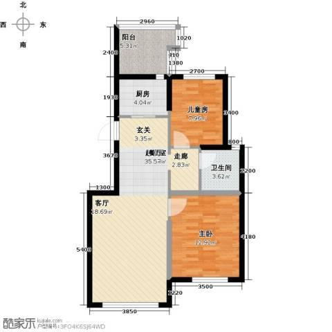 益丰乾城2室0厅1卫1厨78.00㎡户型图