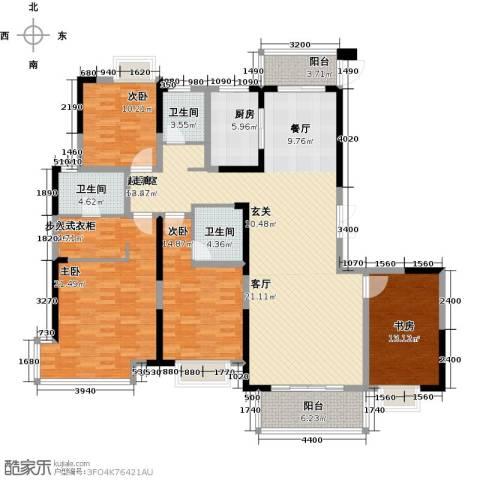 南昌莱蒙都会3室0厅3卫1厨168.00㎡户型图