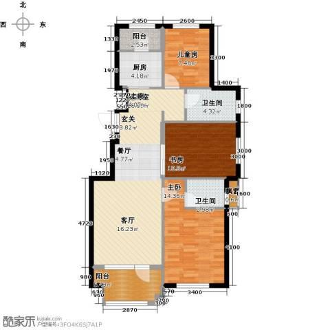 益丰乾城3室0厅2卫1厨102.00㎡户型图