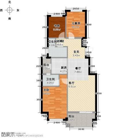 益丰乾城3室0厅2卫1厨94.00㎡户型图