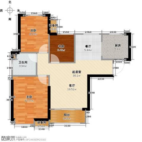 星河荣御3室0厅1卫0厨89.00㎡户型图