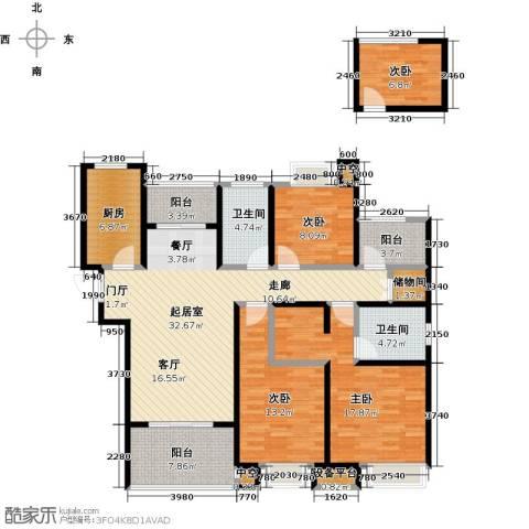 绿地中央广场4室0厅2卫1厨130.00㎡户型图
