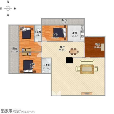 聚祥广场4室1厅2卫1厨154.45㎡户型图