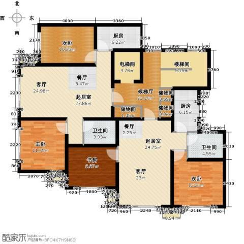 青果青城4室0厅2卫2厨200.00㎡户型图