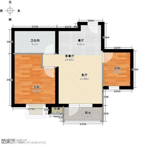 蓝山郡2室1厅1卫0厨56.00㎡户型图