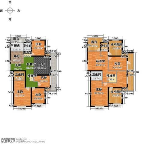中乐百花公馆6室1厅4卫1厨369.00㎡户型图