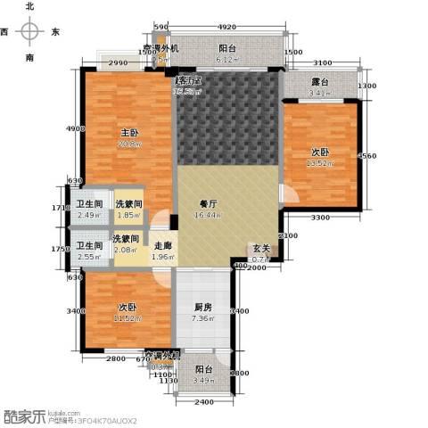 金星阳光格林3室0厅2卫1厨132.00㎡户型图
