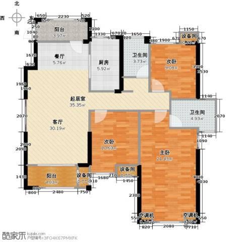 星河荣御3室0厅2卫1厨125.00㎡户型图