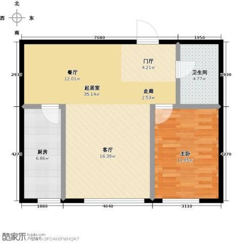 亿合城1室0厅1卫1厨65.00㎡户型图