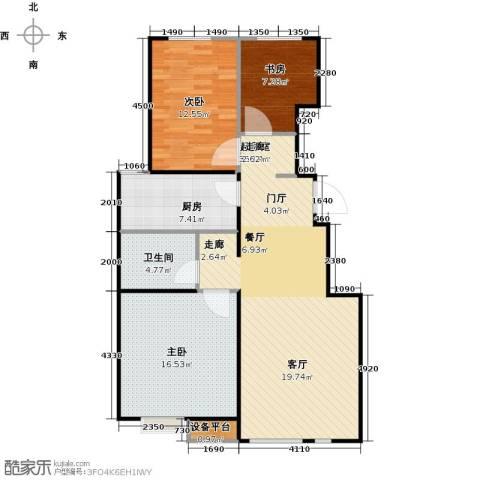 万科魅力之城三期3室0厅1卫1厨90.00㎡户型图