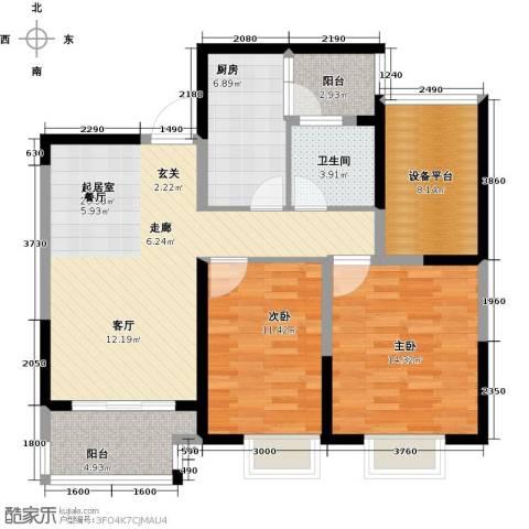 可逸兰亭2室0厅1卫1厨91.00㎡户型图