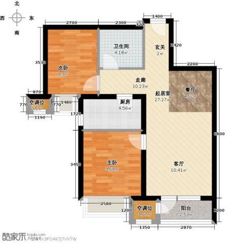 万科新里程2室0厅1卫1厨85.00㎡户型图