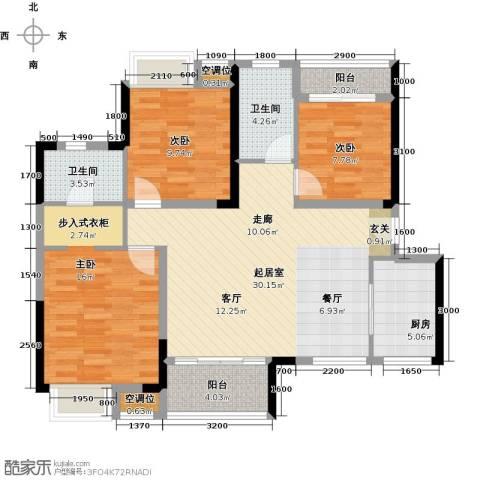 九江中航城3室0厅2卫1厨110.00㎡户型图
