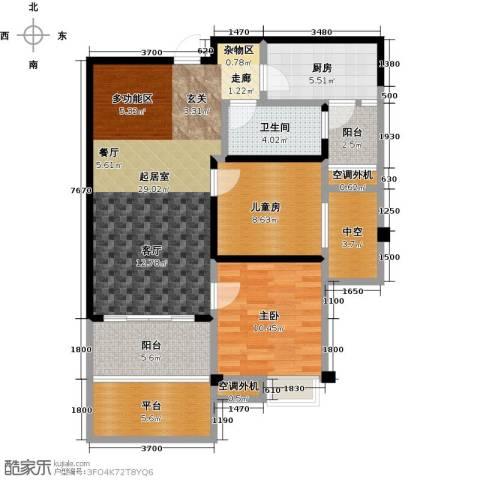 九江碧桂园2室0厅1卫1厨84.00㎡户型图