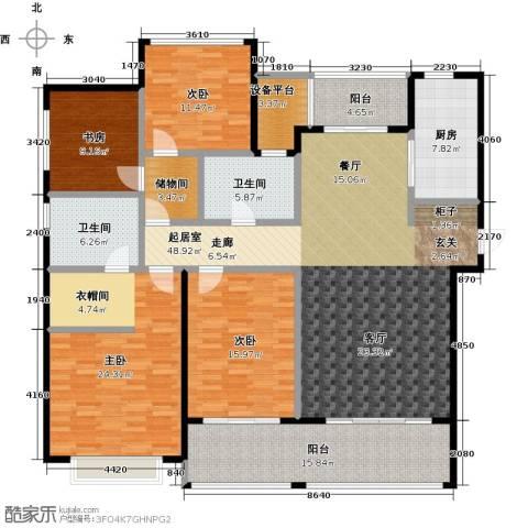龙湖时代天街4室0厅2卫1厨180.00㎡户型图