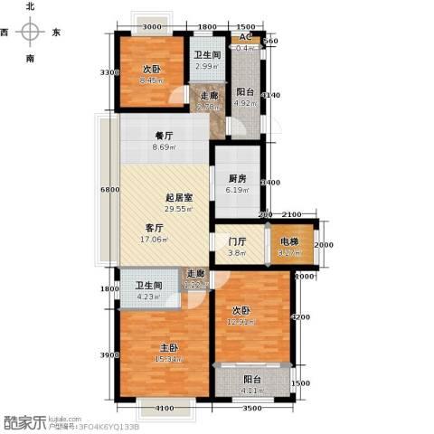 和协风格尚品3室0厅2卫1厨112.00㎡户型图