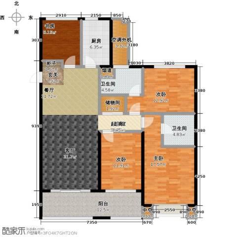 龙湖时代天街4室0厅2卫1厨142.00㎡户型图
