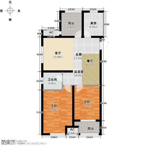 道成广场2室0厅1卫1厨105.00㎡户型图