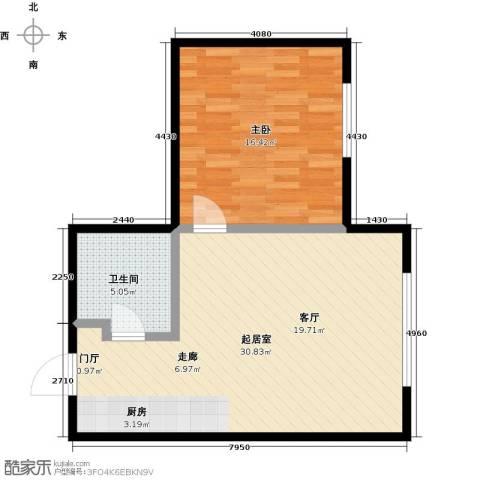 亿合城1室0厅1卫0厨57.00㎡户型图