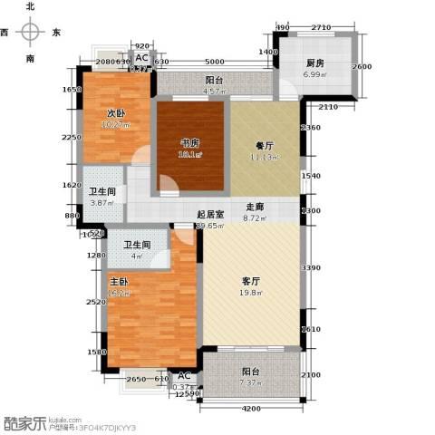 梓湖东城3室0厅2卫1厨149.00㎡户型图