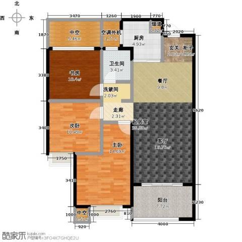 龙湖时代天街3室0厅1卫1厨105.00㎡户型图