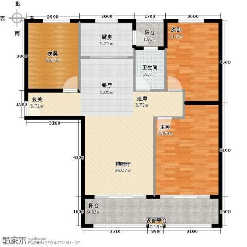 天泰华府3室1厅1卫1厨125.00㎡户型图