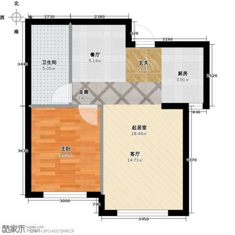 知润山1室0厅1卫0厨53.00㎡户型图