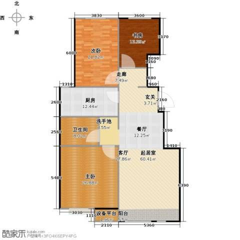 万科魅力之城三期3室0厅1卫1厨144.93㎡户型图