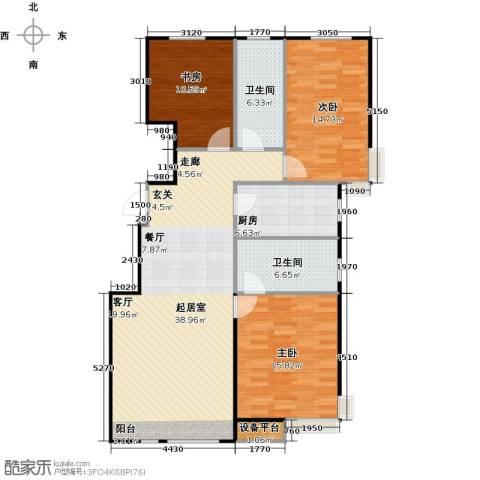 万科魅力之城三期3室0厅2卫1厨108.00㎡户型图
