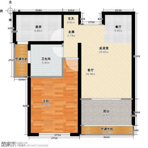 中科苑1室0厅1卫1厨68.00㎡户型图