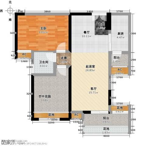 太东・明月湾1室0厅1卫1厨83.00㎡户型图
