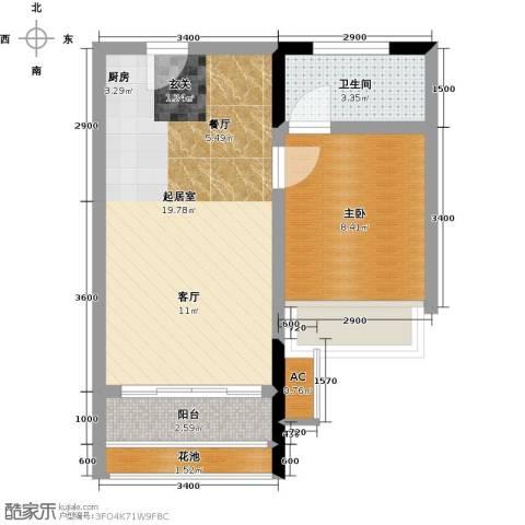太东・明月湾1室0厅1卫0厨46.00㎡户型图