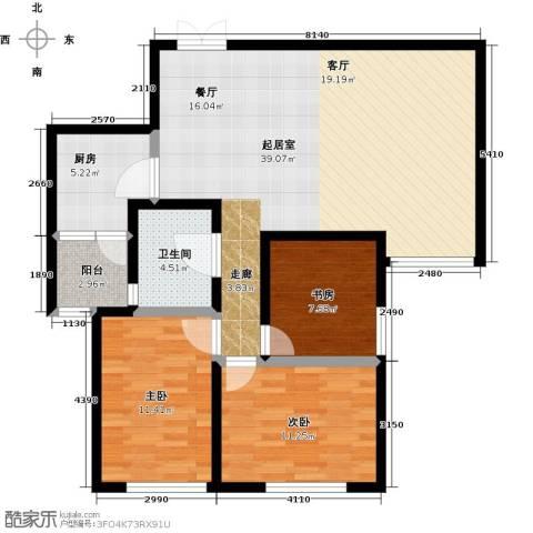 国润城3室0厅1卫1厨118.00㎡户型图