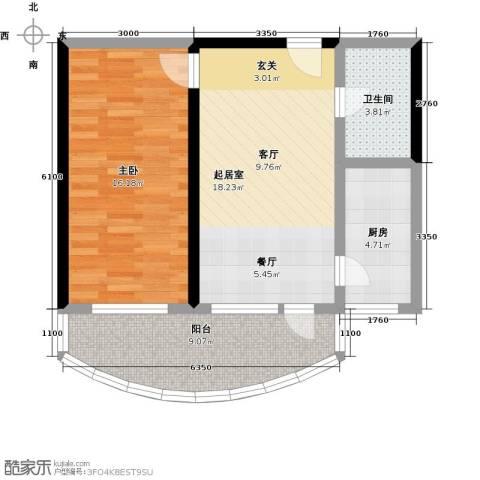 山海同湾1室0厅1卫1厨74.00㎡户型图