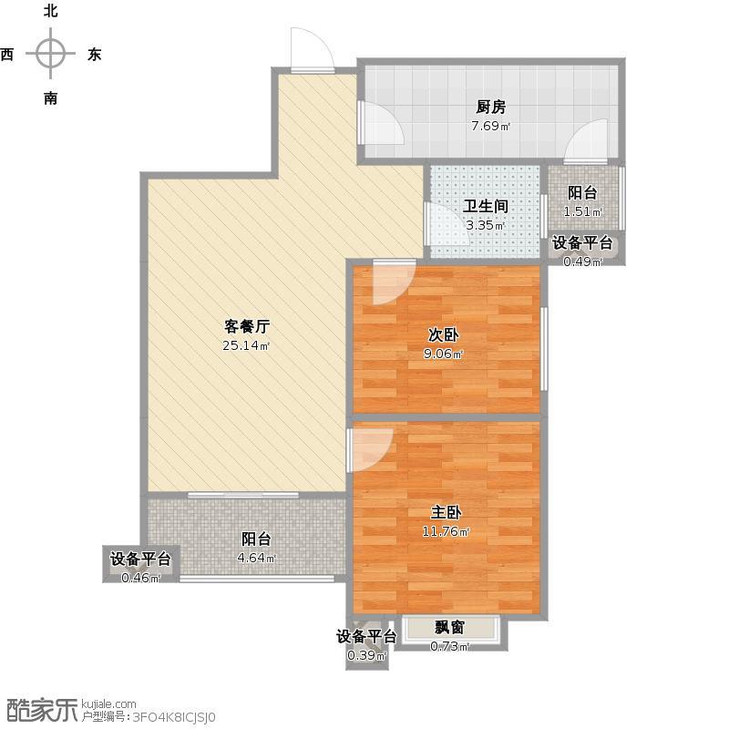 铭城国际社区10、11、12号楼D+改后户型