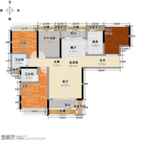 太东・明月湾3室0厅2卫1厨110.00㎡户型图