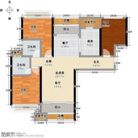 太东・明月湾3室0厅2卫1厨100.00㎡户型图