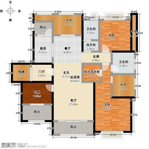 和协风格尚品3室0厅2卫1厨137.00㎡户型图