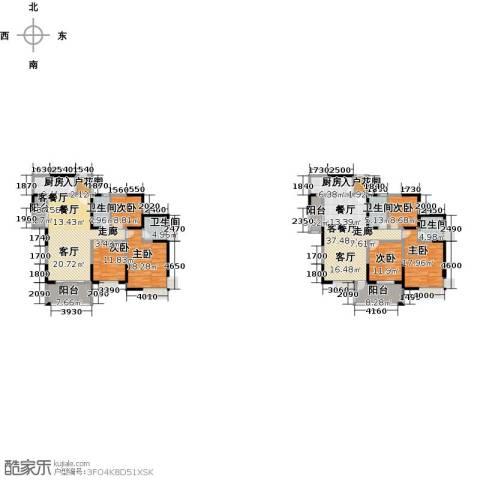布鲁斯国际新城6室2厅4卫2厨305.00㎡户型图