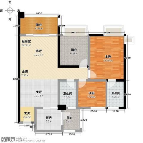 悦盈新城2室0厅2卫1厨102.00㎡户型图
