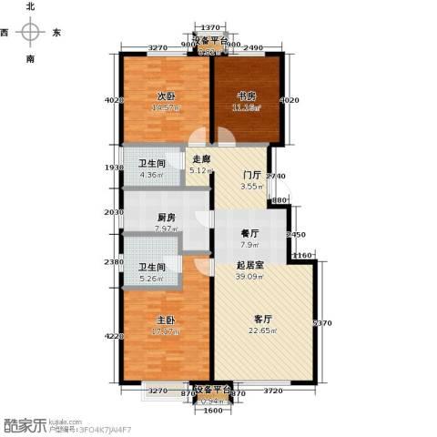 润达万科金域蓝湾3室0厅2卫1厨111.00㎡户型图