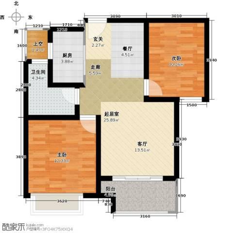 兰田首府2室0厅1卫1厨89.00㎡户型图