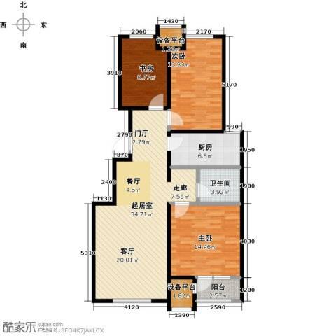 润达万科金域蓝湾3室0厅1卫1厨99.00㎡户型图