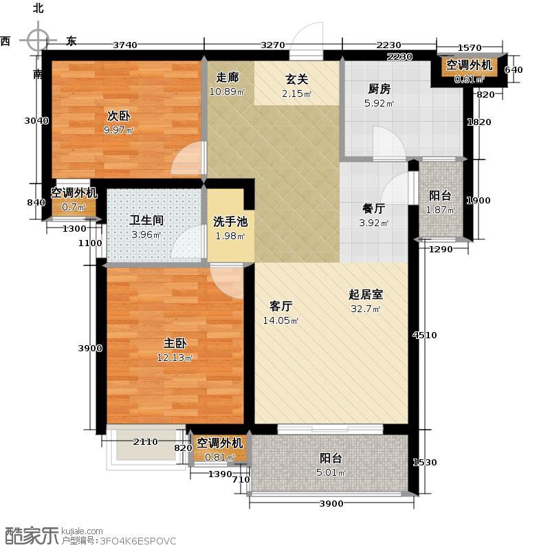 路劲主场84.00㎡新贵户型2室2厅1卫