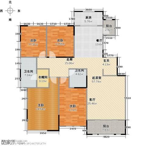 融侨观邸4室0厅2卫1厨203.00㎡户型图