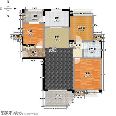 九江碧桂园3室0厅1卫1厨111.00㎡户型图