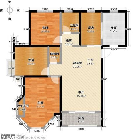 中南唐山湾3室1厅1卫1厨110.00㎡户型图