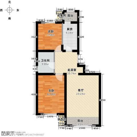 青果青城2室0厅1卫1厨79.00㎡户型图